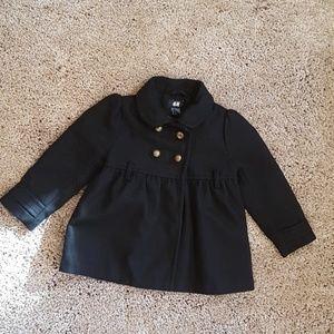 Girl black coat